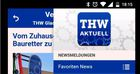 "News-to-go: App ""THW Aktuell"""